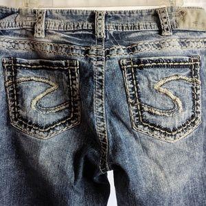 Silver Suki Mid Rise Boot Cut Fluid Denim Jeans